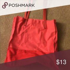 Bag Pink and coral bag Bags Totes