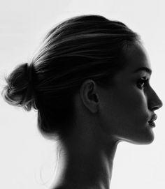 """pinterest.com/fra411 #face - Rosie Huntington-Whiteley for Harper's Bazaar UK, September 2014 Photographed by: David Slijper """""""