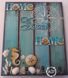 Sea Crafts, Diy Crafts For Gifts, Crafts To Make And Sell, Eco Furniture, Diy Furniture Projects, Diy Wood Projects, Decoupage Box, Decoupage Vintage, Arte Pallet