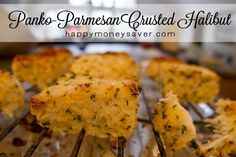 Panko Parmesan Crusted Halibut Recipe using panko breadcrumbs, parmesan cheese, fresh lemon, parsley and more. Quick and delicious. Parmesan Crusted Halibut Recipe, Halibut Recipes, Fish Recipes, Seafood Recipes, Great Recipes, Cooking Recipes, Favorite Recipes, Healthy Recipes, Recipies