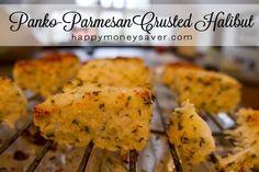 Panko Parmesan Crusted Halibut Recipe