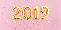 New year 2020 celebration. Gold foil balloons numeral 2020 and confetti on pink background. rendering - Buy this stock illustration and explore similar illustrations at Adobe Stock New Years Eve Quotes, Quotes About New Year, Year Quotes, New Year New Me, Happy New Year 2019, New Year 2020, Happy New Year Design, New Year's Eve Quotes Inspirational, Motivational Quotes