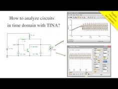How to analyze circuits in time domain with TINA? In this tutorial video, we will demonstrate and compare the tools available in TINA, for analyzing circuits in time domain. In TINA, you can analyze circuits in time domain, employing two different tools: Transient analysis from the Analysis menu of TINA Simulated virtual Oscilloscope from the T&M menu of TINA