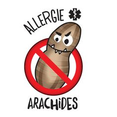 Tatouage temporaire Allergie Arachides! Temporary tattoo, peanuts allergy. Les Allergies, Education Positive, Early Learning, Stuff To Do, Symbols, Letters, Peanuts, Routine, Medicine