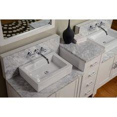 Direct Vanity Sink Horizon Collection 84-in. Double Bathroom Vanity Set - White - Double Sink Bathroom Vanities at Bathroom Vanities