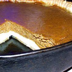 Paradise Pumpkin Pie. Carefully top cream cheese mixture with pumpkin.