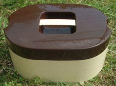Vintage/Retro Insulex 3 Piece Picnic/Camping/Camper Van Stacking Set Brown/Cream