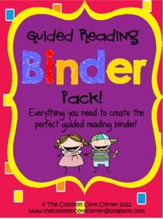 This Guided Reading Binder Pack-Common Core Aligned is a perfect tool for teachers to organize, manage, and track students' reading behaviors.