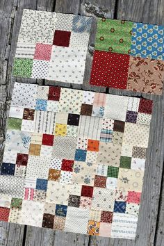 Easy but striking quilt pattern! just a solid and a 4 patch LOVE IT