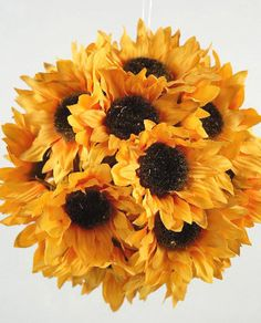 198 best silk flower crafts images on pinterest manualidades silk sunflower balls 7 in ball 1299 each 3 for 12 each mightylinksfo
