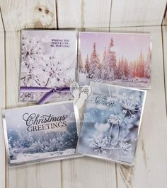 Using the Feels Like Frost designer paper and the silver rimmed cards from Stampin' Up! I created a beautiful assortment of holiday cards in a flash! Just add your favorite holiday or other greeting and you are good to go! Christmas Cards 2018, Merry Christmas To All, Stampin Up Christmas, Xmas Cards, Holiday Cards, Christmas 2019, Christmas Stuff, Christmas Holidays, Stamping Up Cards