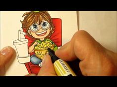 How to Colour with Promarkers, using Simplybstamp Part2