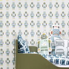 Heal's | Ferm Living Kids Robots Wallpaper - Kid's Wallpaper - Wallpaper - Accessories