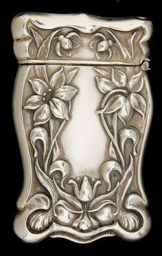 Silver Smalls:Match Safes, A GILBERT SILVER MATCH SAFE . F.S. Gilbert, North Attleboro,Massachusetts, circa 1900. Marks: G, STERLING. 2-5/8inches...