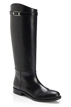 'Casmia' | Tall Leather Boot, Black