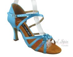 Natural Spin Latin Shoes(Open Toe):  M1109-02_BlueCS