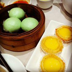 Green Tea Buns & Custard Egg Tarts