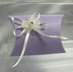 Lilac Silk Pillow Favour box