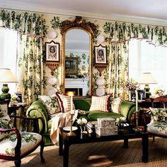 Lovely living room via Hydrangea Hill Cottage