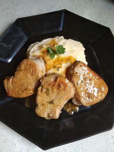 Ψαρονέφρι με σάλτσα μελιού & μουστάρδας! Health Diet, Baked Potato, Pork, Cooking Recipes, Meat, Chicken, Baking, Ethnic Recipes, Fitness