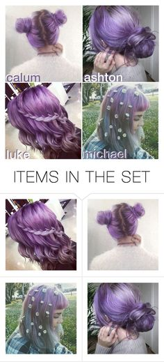 """""""his favourite purple hairstyle on you // by ellie"""" by official-5sos-fam ❤ liked on Polyvore featuring art and elliebonjellyspreferences"""
