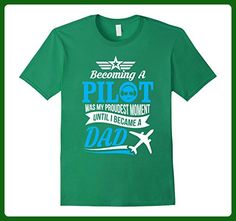 Mens Becoming a Pilot was my proudest moment, T-Shirt for Dad Large Kelly Green - Relatives and family shirts (*Amazon Partner-Link)