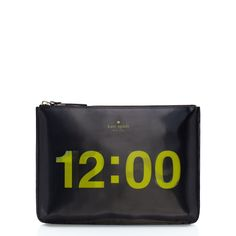 Completely obsessed with this Kate Spade pouch that changes from 11:59 to 12:00 #cinderella