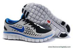Mens Nike Free Run 395912-002 Black Gray Blue Online