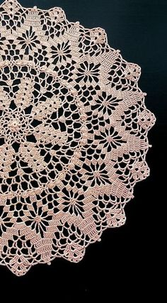 Orange Round Crochet Doily Peach Round Crochet Doily