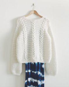 """Patron """"Sweater Betty White"""" de Marcelle et Clo - Marie Claire Idées"""