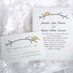Wedding Invitations Online Birds On Branches Wedding Invitation IWI051 -