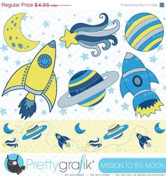 80% OFF SALE Space clipart commercial use, vector graphics, digital clip art, digital images  - CL323 by Prettygrafikdesign on Etsy https://www.etsy.com/listing/108088424/80-off-sale-space-clipart-commercial-use