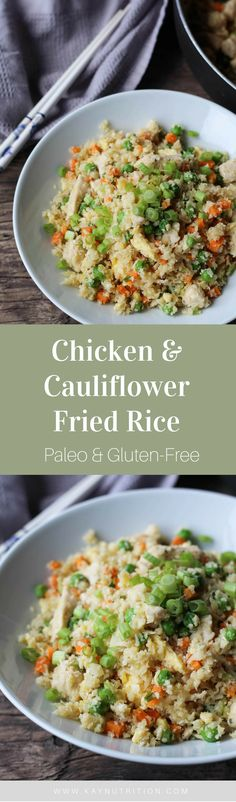 This Chicken & Cauliflower Fried Rice is a lighter take on a classic fried rice and a great way to add more veggies to your diet in a flavourful way.