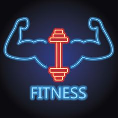 Fitness gym center logo with neon light effect vector illustration PNG and Vector Background Cool, Geometric Background, Vector Logo Design, Logo Design Template, Logo Fitness, Fitness Humor, Muscle Fitness, Fitness Quotes, Logo Academia