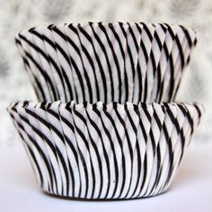 Black and White Candy stripe baking cups