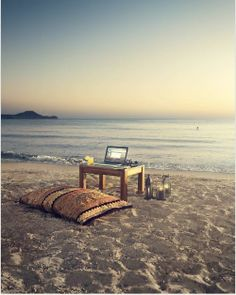 I wouldn't mind being on the beach while I'm surfing the internet..