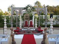 Purple and ivory mandap mandaps pinterest south asian bride outdoor mandap junglespirit Images