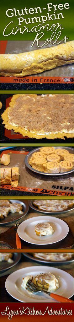 Gluten Free Pumpkin Cinnamon Rolls- Yes, you can make gluten free cinnamon rolls at home that taste great!