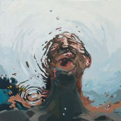 """Through the water, 20x20"""", Oil on canvas, 2012"""