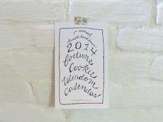 2014 calendar  fortune cookie wisdom calendar by MessyBedStudio, $16.00