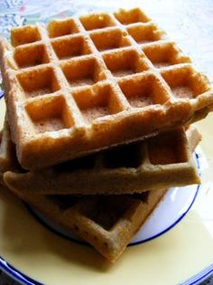 Cornbread Waffles. Recipe from Vegan Brunch. Made these to go with a tempeh and mayocoba bean chili. Crispy, crunchy and delicious.