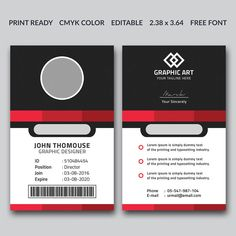 Corporate Office Id Card Template Certificate Design Template, Id Card Template, Modern Business Cards, Business Card Design, Journey Logo, Identity Card Design, Visiting Card Templates, Corporate Id, Dilly Dally