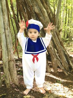 Like wearing a giant sweatshirt. (I want one too!). Warm version of the Stay Puft Marshmallow Man Childrens Costume by TheWishingElephant on Etsy, $48.00.