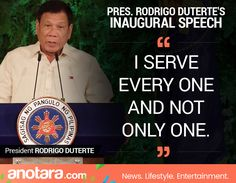 Political Quotes, Political Science, Rodrigo Duterte Quotes, Inaugural Speech, President Of The Philippines, Current President, War On Drugs, Political Figures, Foreign Policy