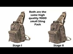 TravTac Stage II Sling Bag, Premium Small EDC Tactical Sling Pack 900D – TravTac Gear
