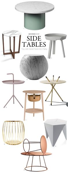 Side Tables | You can never have too many! | Design Covet | Est Magazine barefootstyling.com