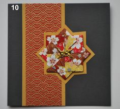 Card making tutorial: Tea bag folding with Japanese paper