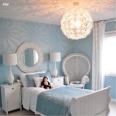 Light blue bedroom colors: 30 best heavenly light blue rooms images on pint Blue Bedroom Colors, Light Blue Paint Colors, Turquoise Paint Colors, Purple Rooms, Blue Colors, Aqua Blue, Light Blue Rooms, Girl Room, Bedroom Girls