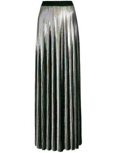 Olivier Rousteing, Metallic Luster, Holographic, Pleated Skirt, Balmain, Colours, Skirts, Fabric, Collection