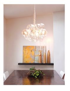 Instructions to make this light fixture from readymade. Still trying to find an appropriate bedroom light that I like... maybe a shorter/smaller version of this?